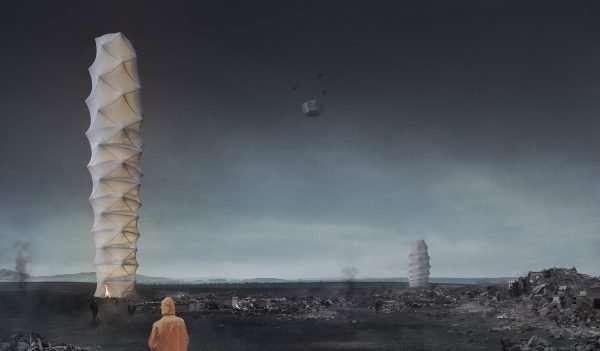 Польские изобретатели представили складной небоскреб на случай катаклизмов