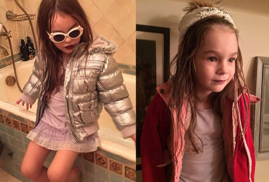 «Интересные у вас игры»: Ирина Гринева приобщает четырехлетнюю дочь к моде