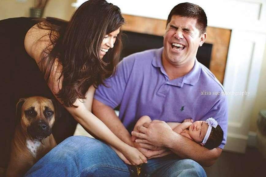 Как младенцы могут испортить семейные фотографии