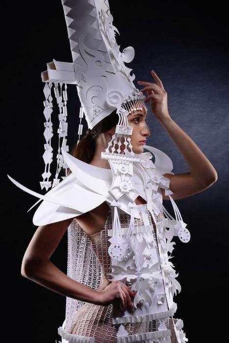 Свадебные костюмы из бумаги