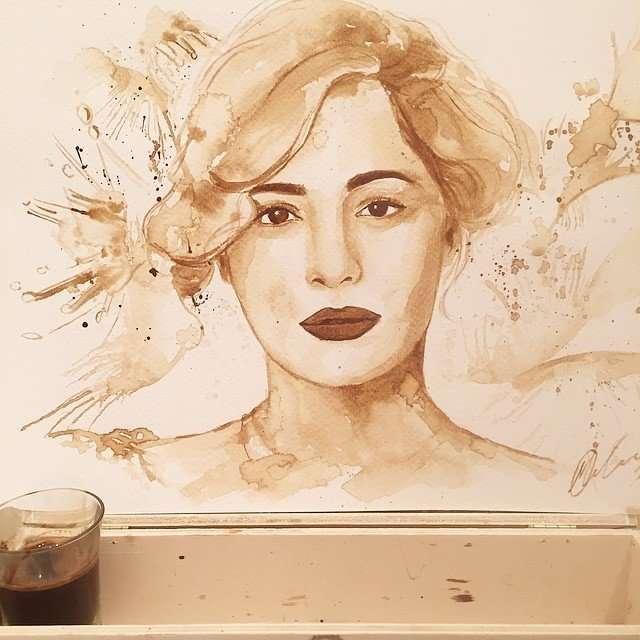 Потрясающие рисунки, созданные с помощью кофе