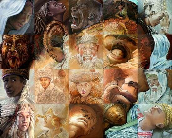 Картины объединились, чтоб сделать мозаику