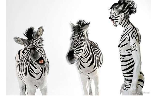 Фотосессия с участием диких животных и людей
