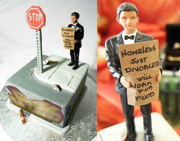 Оригинальные торты для празднования развода